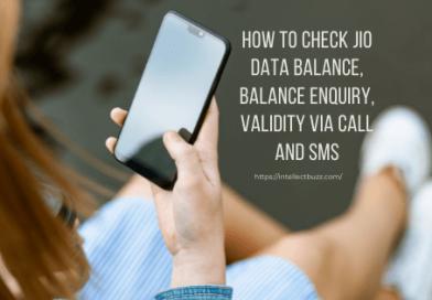 How to Check Jio Data Balance